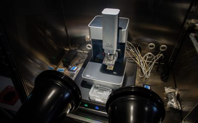 Atomic Force Microscope (AFM) integrated in a glovebox